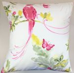 Cushion Cover in Laura Ashley Harewood Heritage Bird Grapefruit 16""